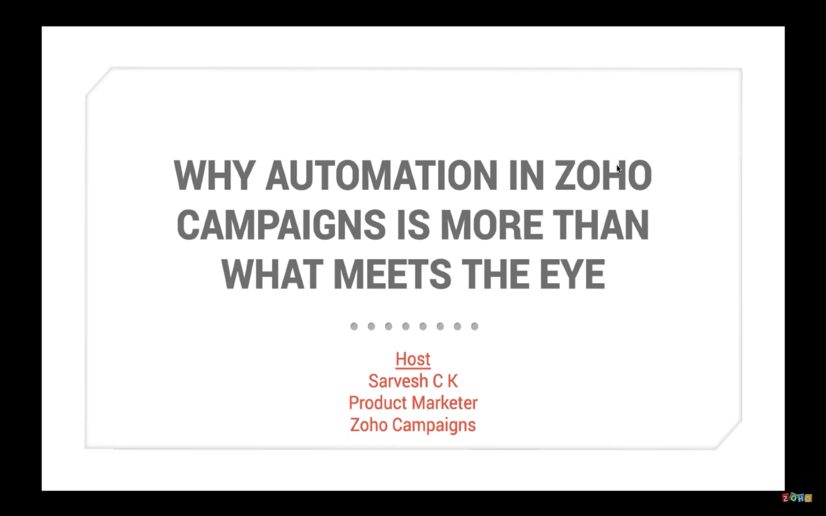 Automation in Zoho Campaigns