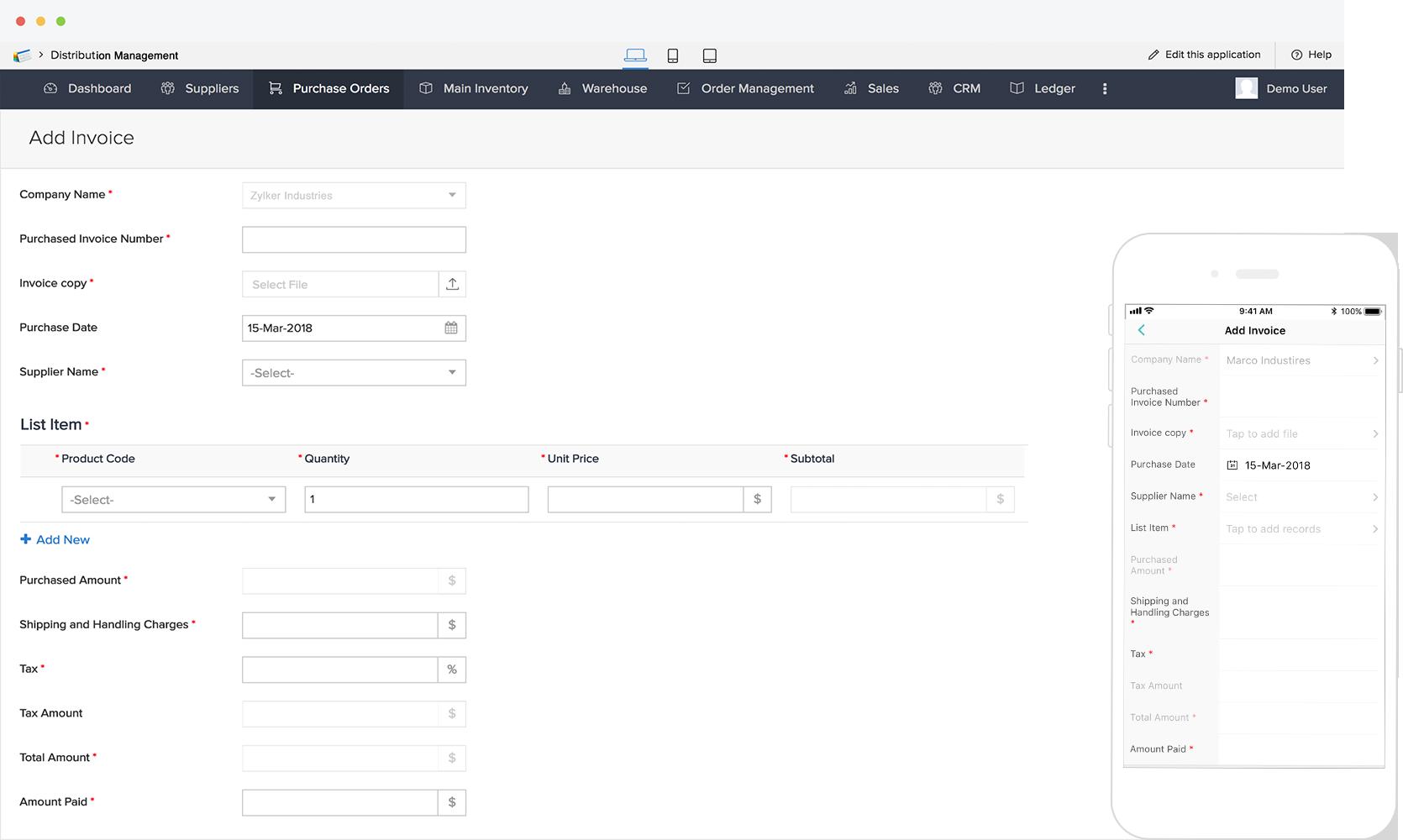 Free distribution management software | Customizable