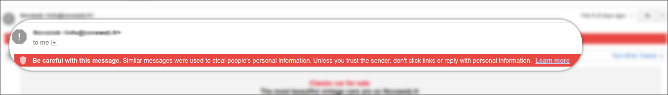 When Gmail Says Your Emails Have Suspicious Links Online Help Zoho Campaigns