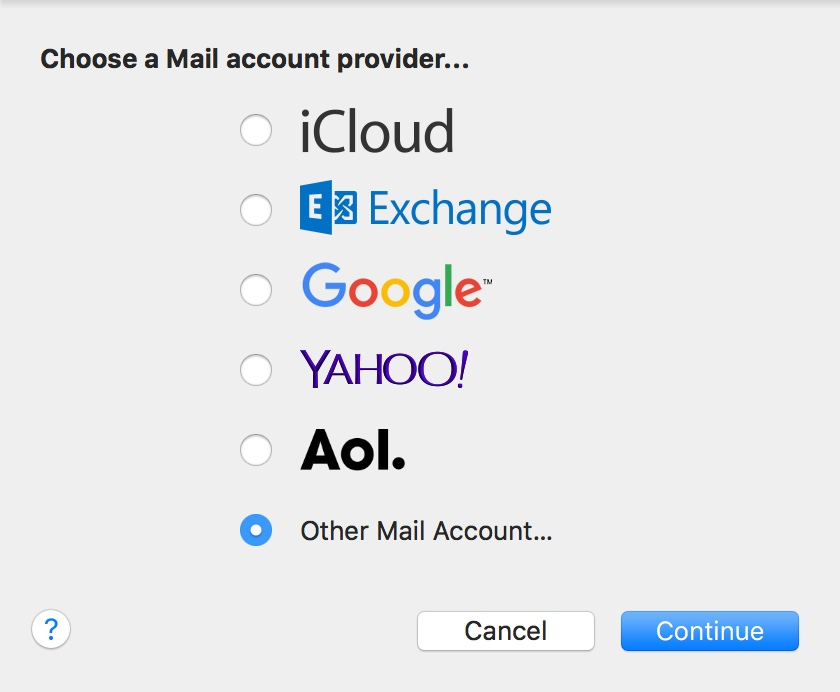 Setting up Zoho Mail on Mac