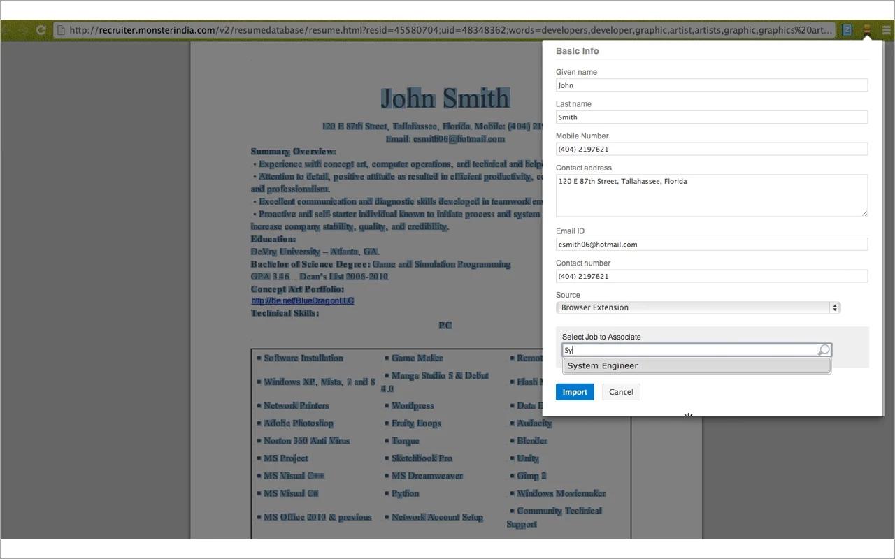 Resume Management - Zoho Recruit
