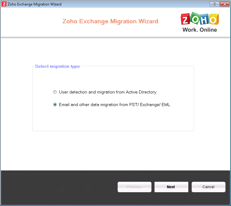 Email Migration - Multiple PST Files to Zoho Mail accounts