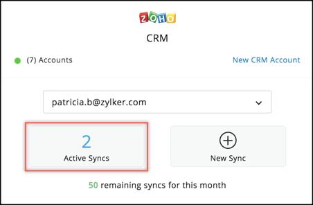 active CRM sync