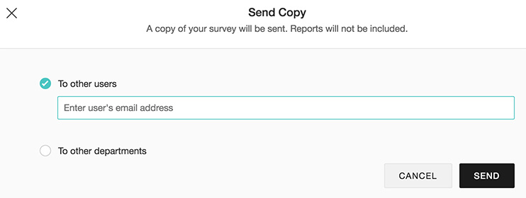 Send copy feature in survey