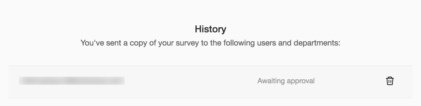 Send copy history in survey