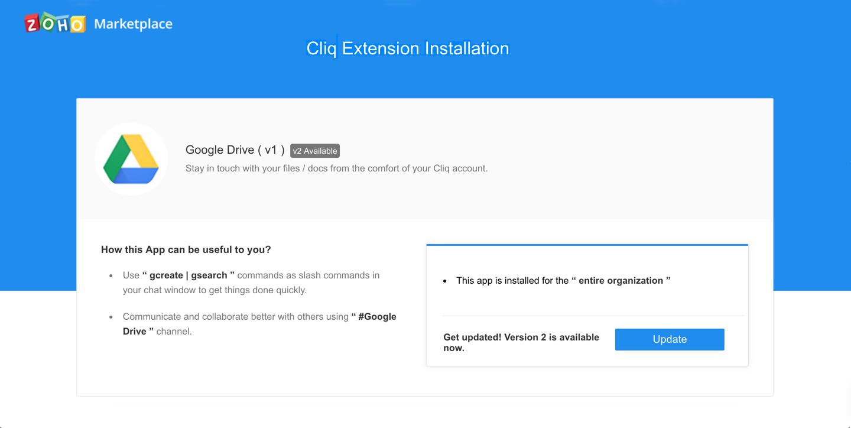 Upgrade Extensions   Cliq