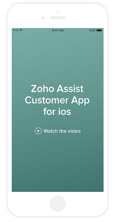 iOS remote access support app - Zoho Assist