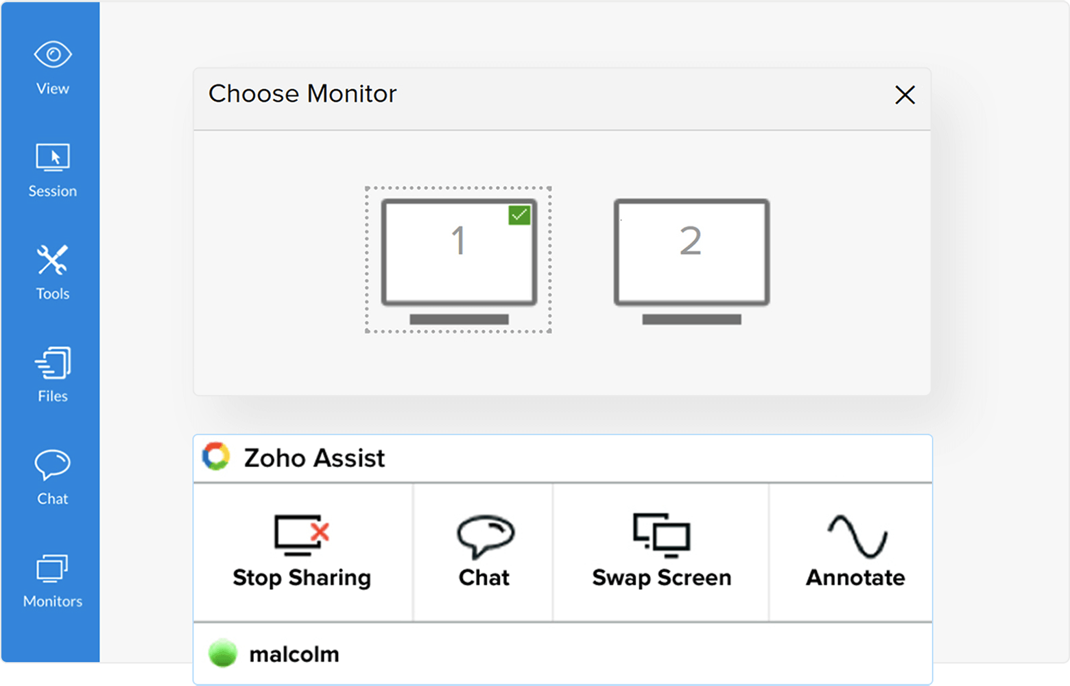 Mac remote desktop solution with multi monitor feature - Zoho Assist