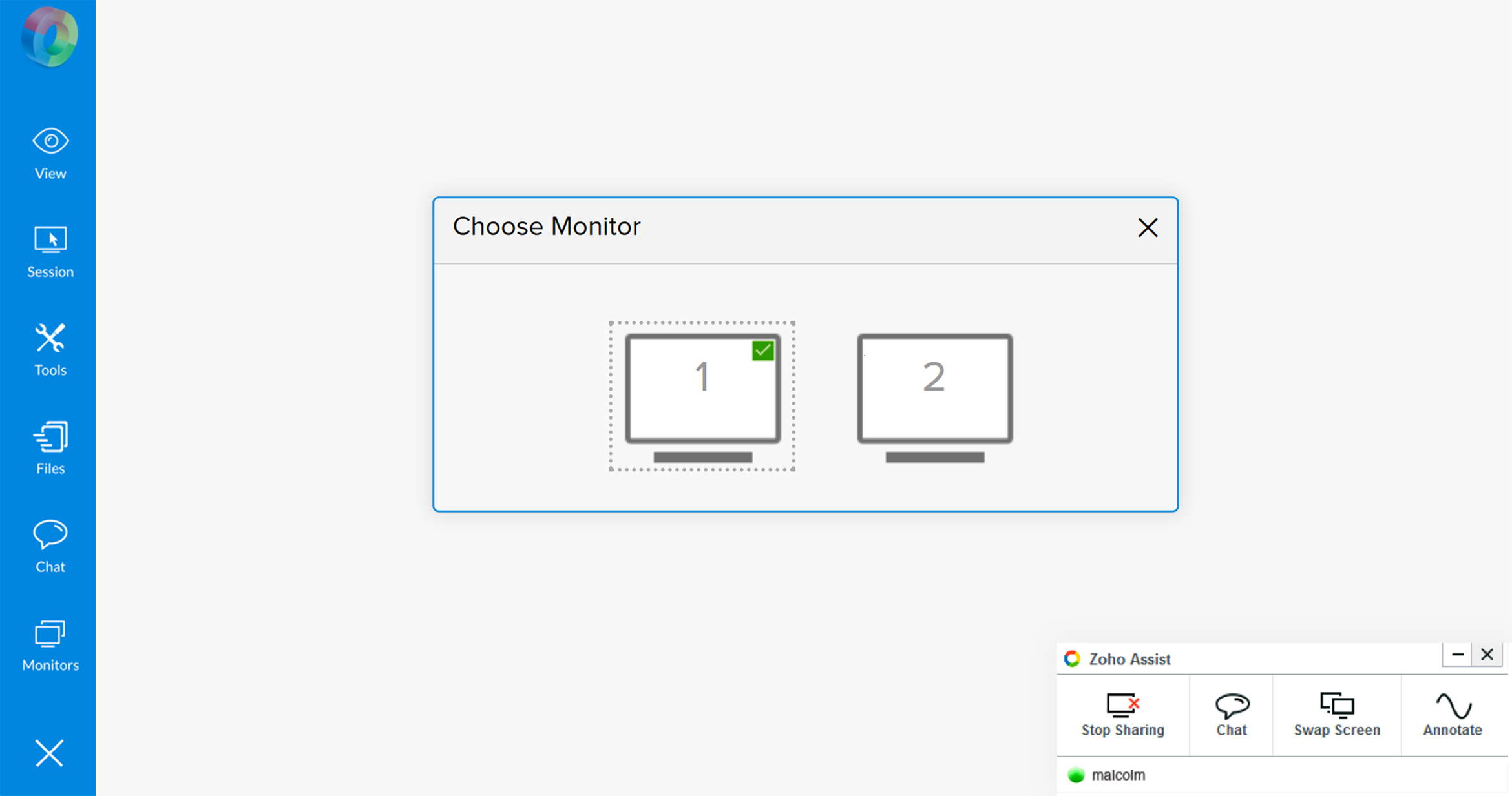 Instant remote desktop - Zoho Assist