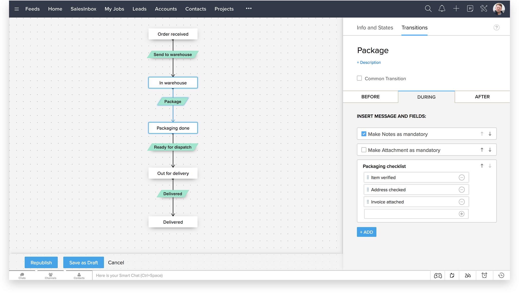 Blueprint Transition