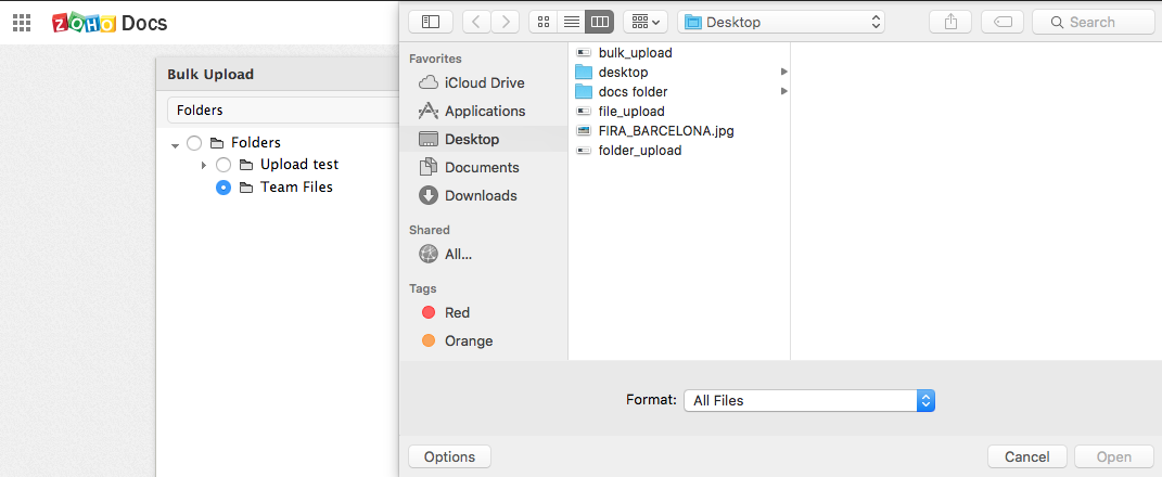 How to upload your files online using Zoho Docs