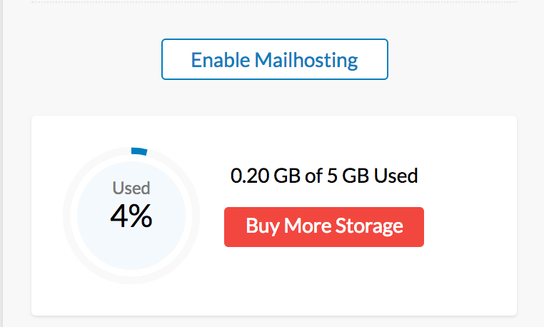 Click The Buy More Storage Button