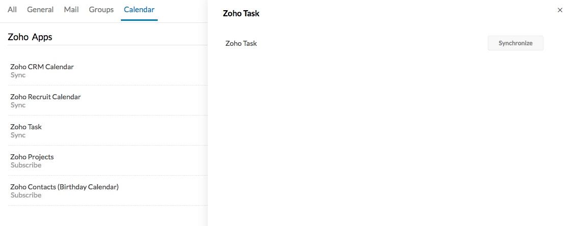 Sync your Zoho Tasks with Zoho Calendar