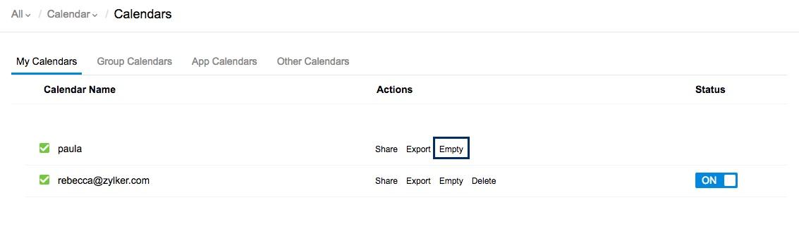Create and Manage multiple calendars on Zoho Calendar