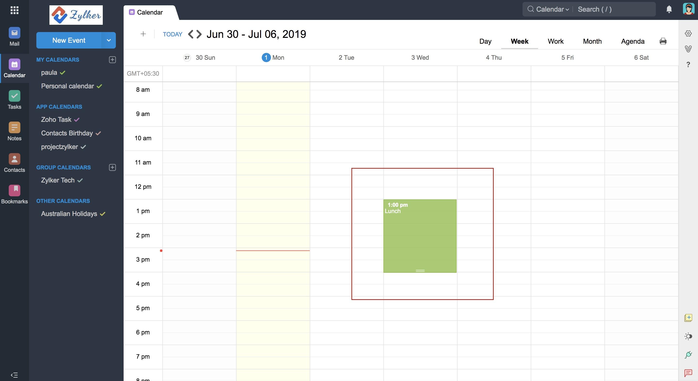 CalDAV Sync For Zoho Calendar