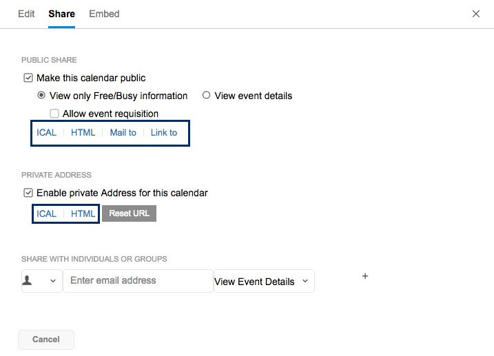 Sharing and Permissions in Zoho Calendar