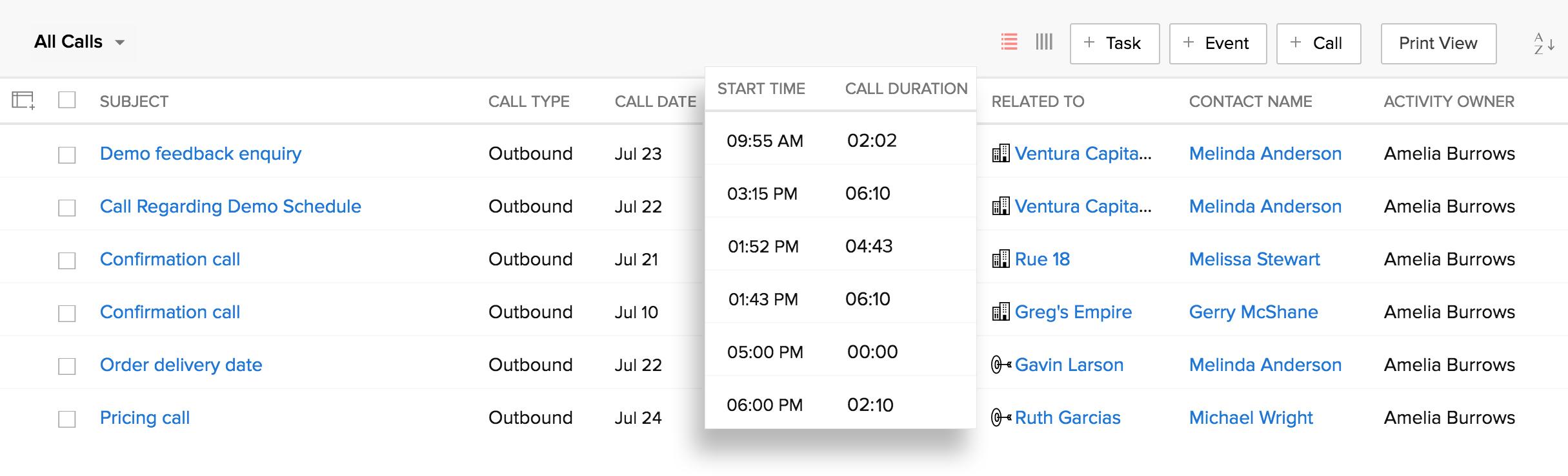 Telephony   Make customer calls from inside Zoho CRM