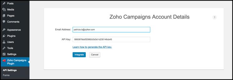 Integration of Campaigns plugin