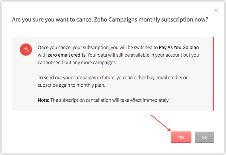 Pricing Subscriptions - Online Help | Zoho Campaigns