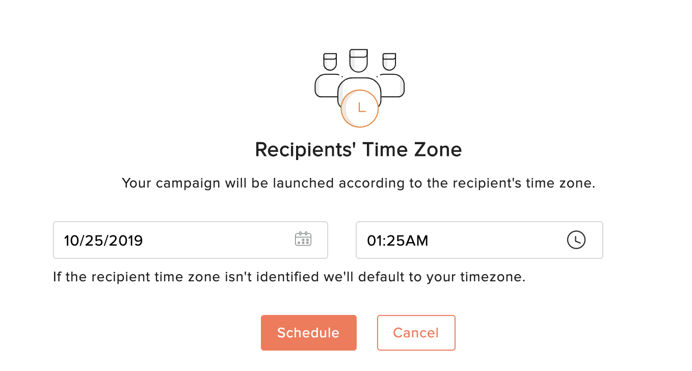 Send or schedule email campaigns