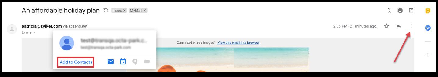 Gmail address book