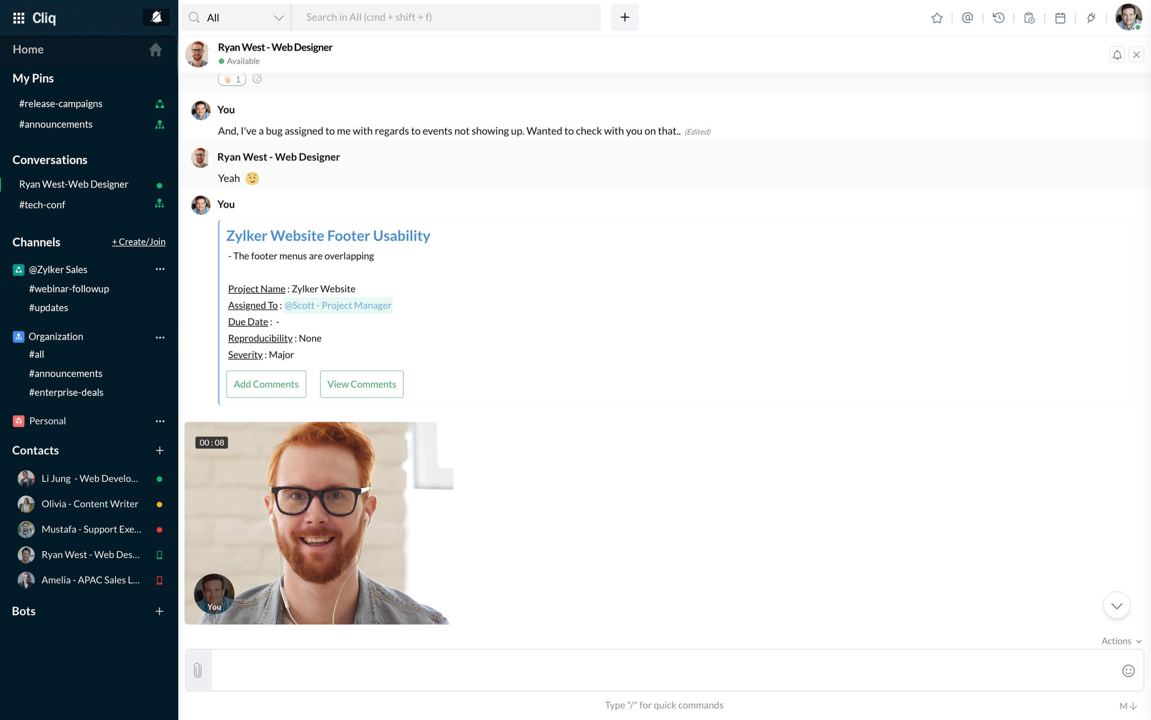 Team Collaboration Chat - Zoho Cliq