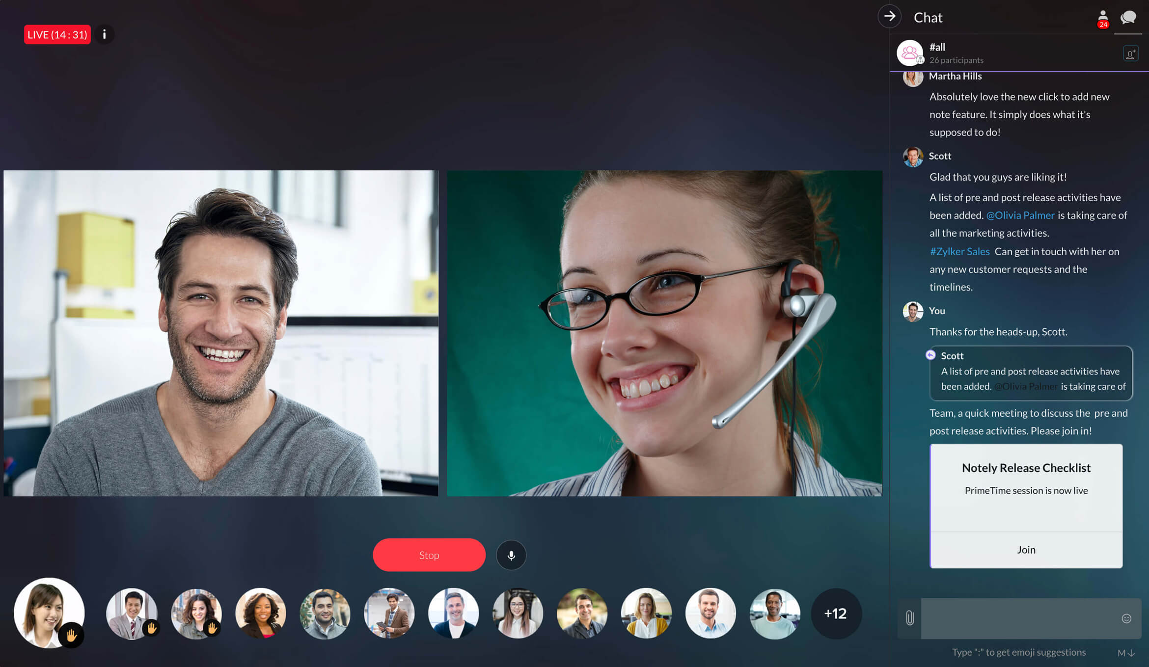 Remote Team Collaboration - Zoho Cliq