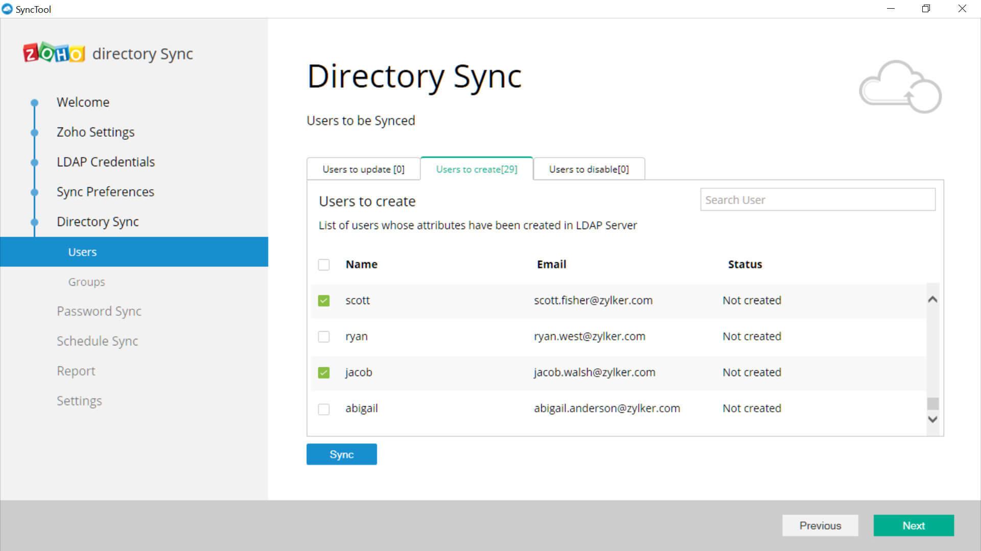 Zoho Directory Sync | Cliq