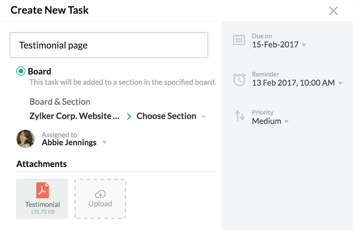 Zoho Connect | Track your team's work with task boards