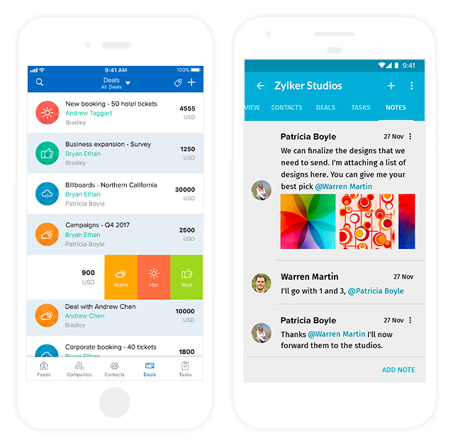 Zoho-contactmanager-contacts-dashboard-mobileapp