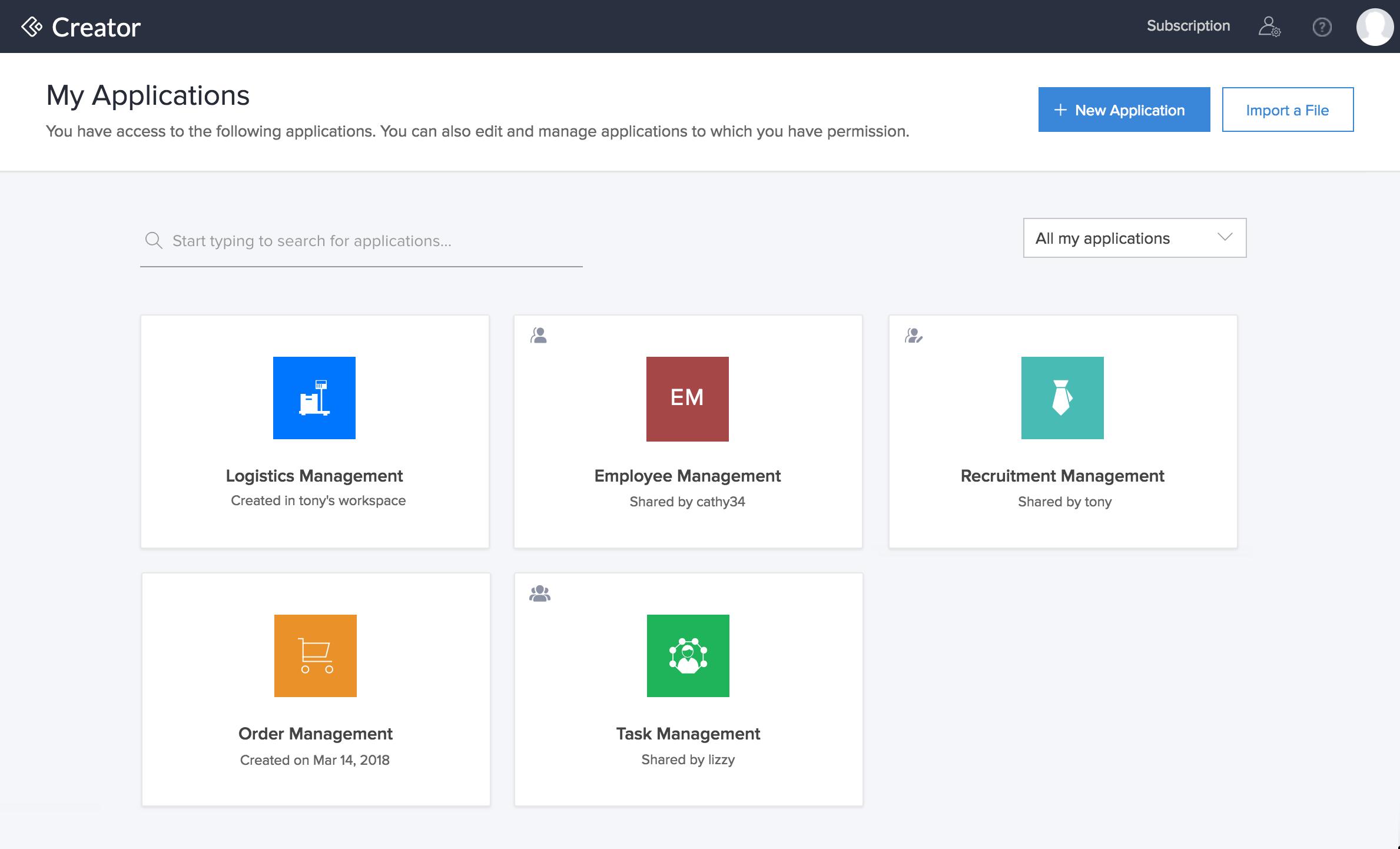 Zoho Creator Home Page | Help - Zoho Creator