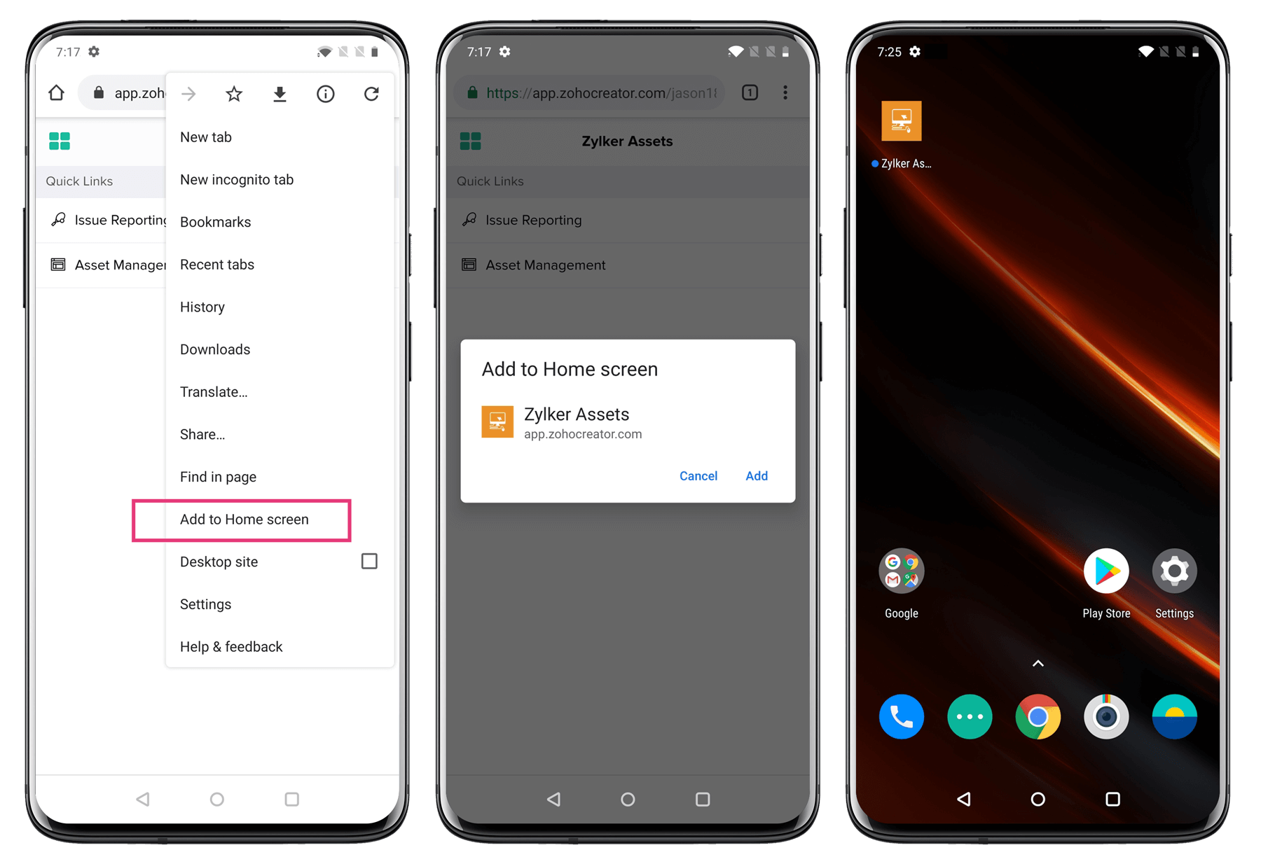 Android - Add app to Home screen