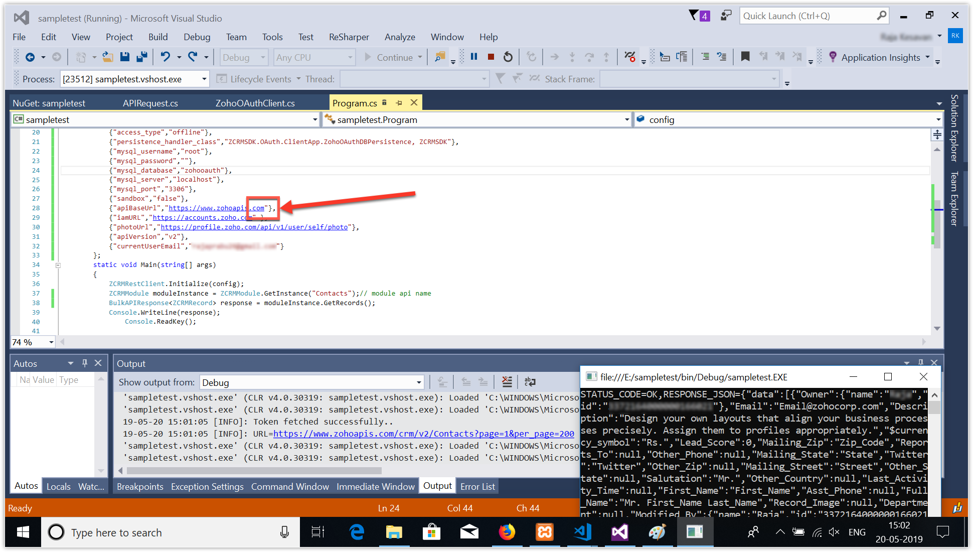 Errors & Solutions - C Sharp SDK   Online Help - Zoho CRM