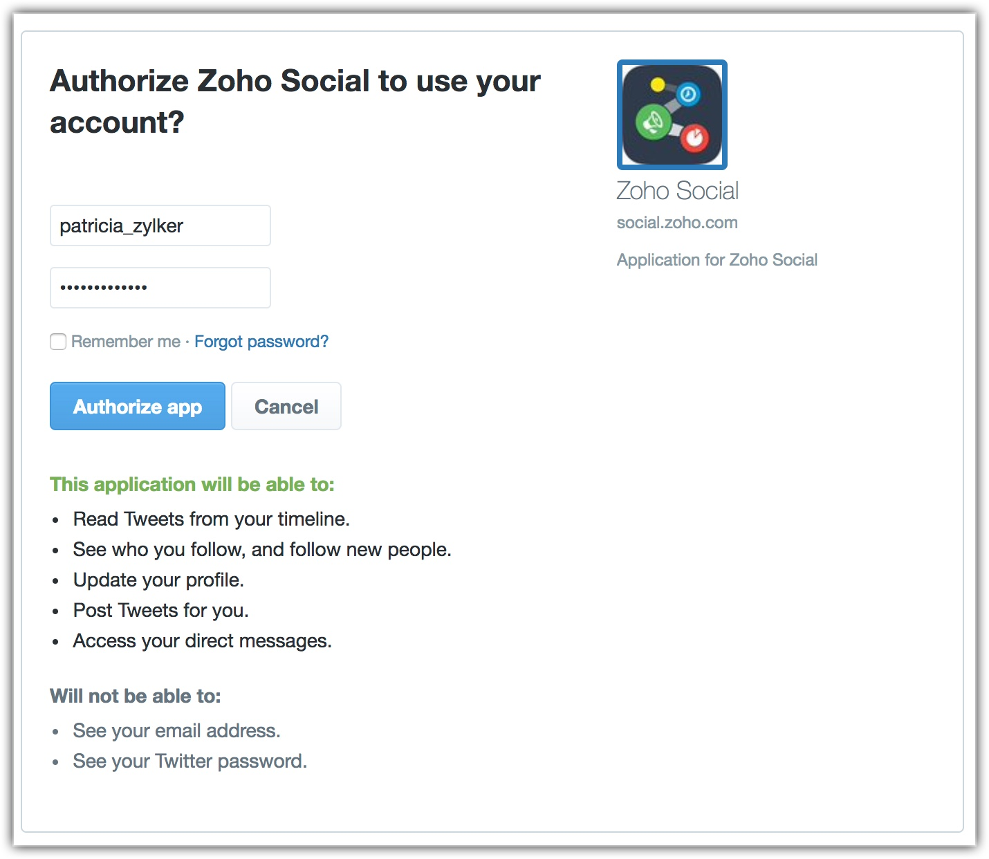 Manage Social Accounts | Online Help - Zoho CRM