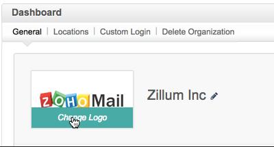 Zoho Mail - Customizing Logo and login URL