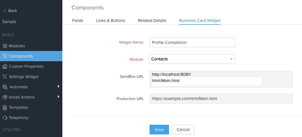 Widget Support in Extensions   Zoho Developer Help