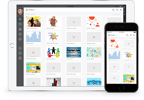 Zoho Docs Mobile App for IOS and Android Devices