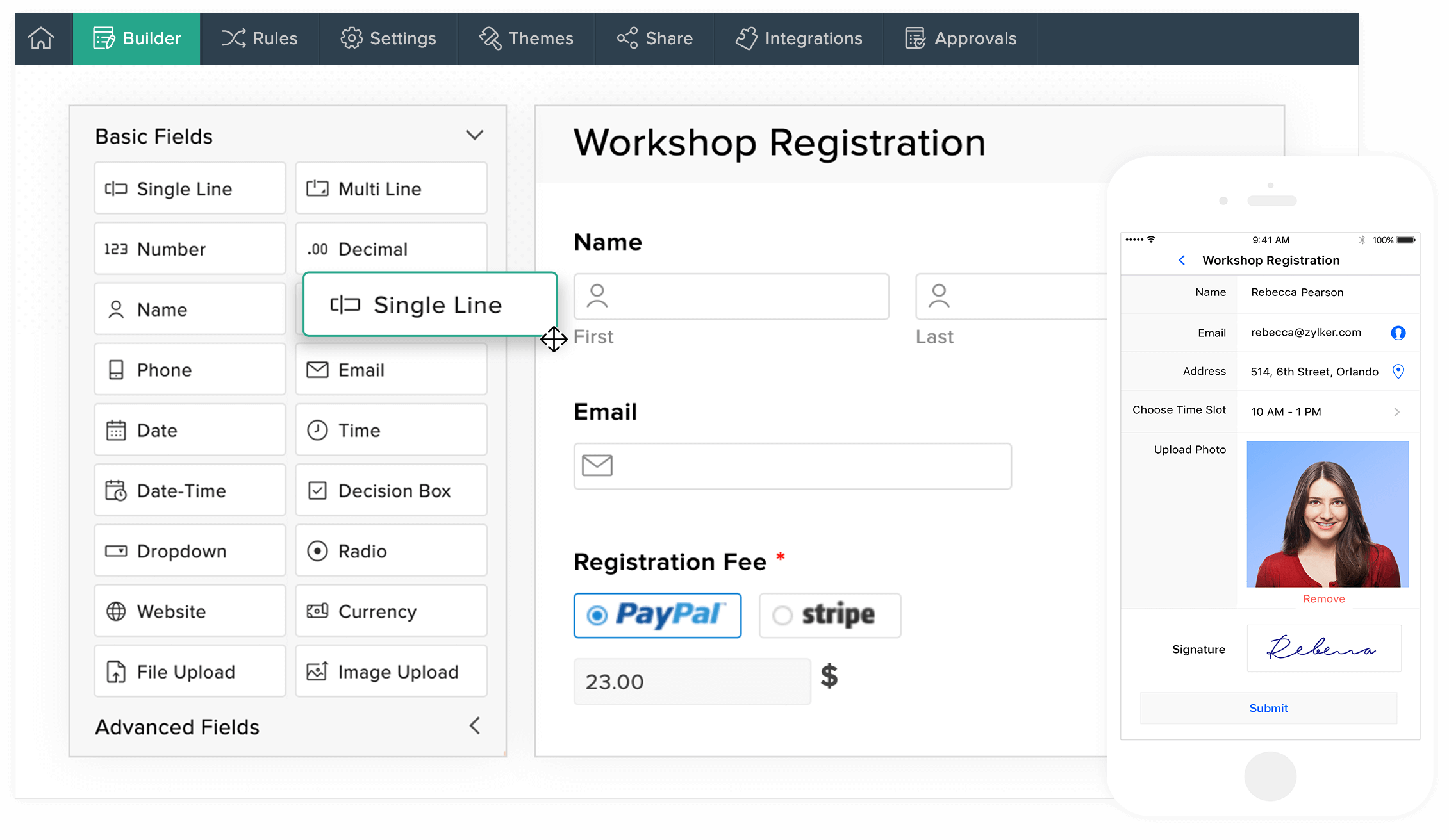 Free Online Form Builder - Zoho Forms