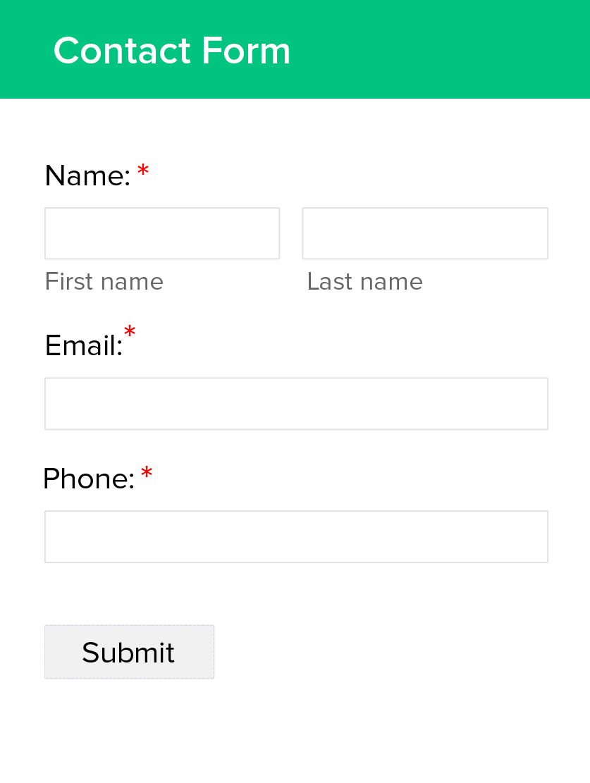 Simple Contact Form Creator - Zoho Forms