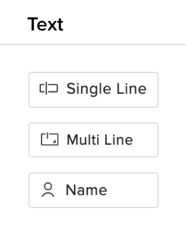 Form Builder Fields - Zoho Forms