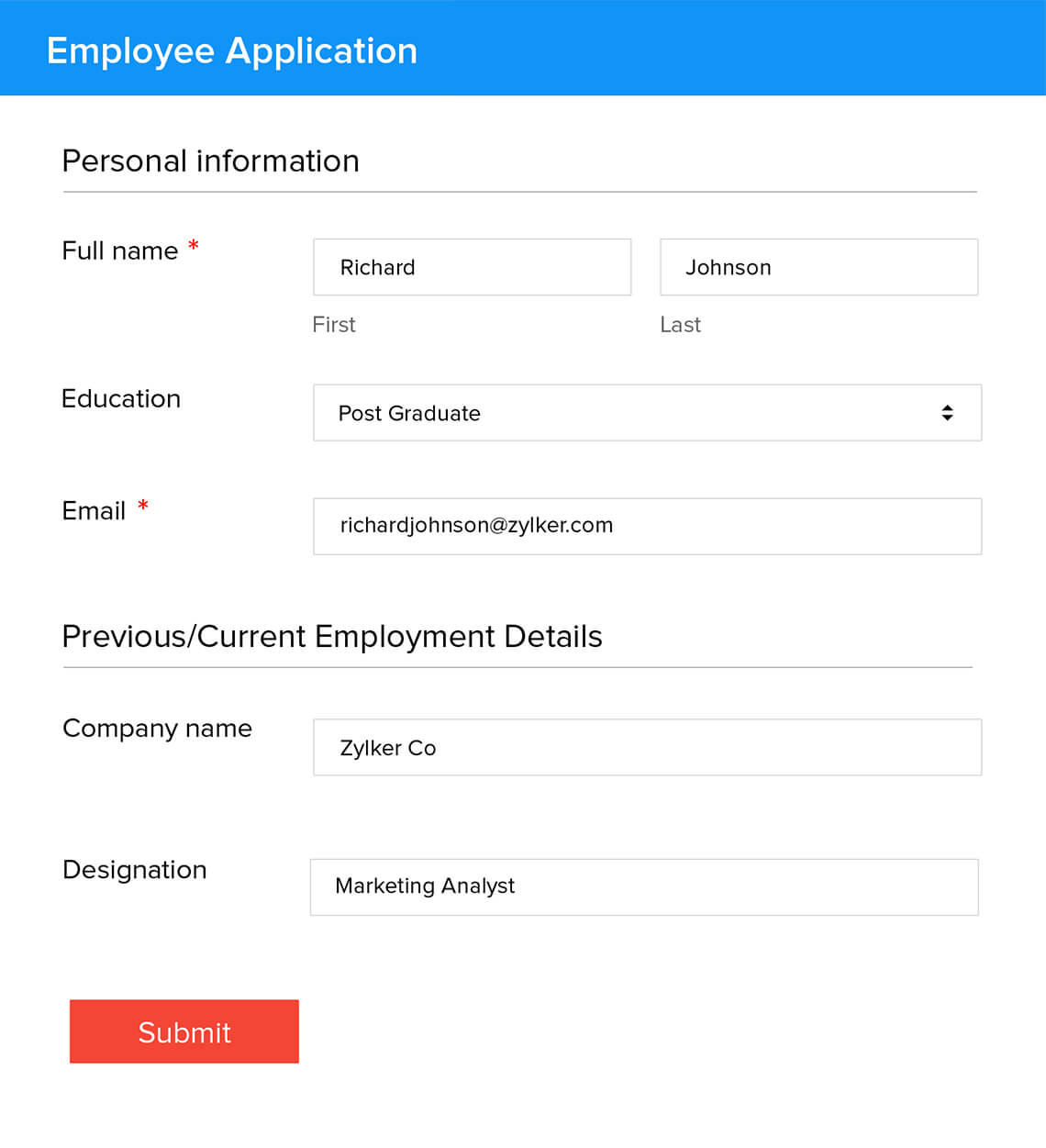 Zoho Sheet Integrations - Zoho Forms