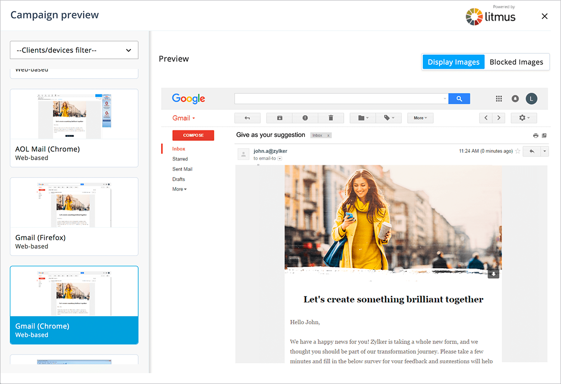 Newsletter preview for Gmail