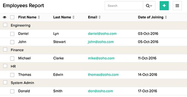 Group and Sort Data | Help - Zoho Creator