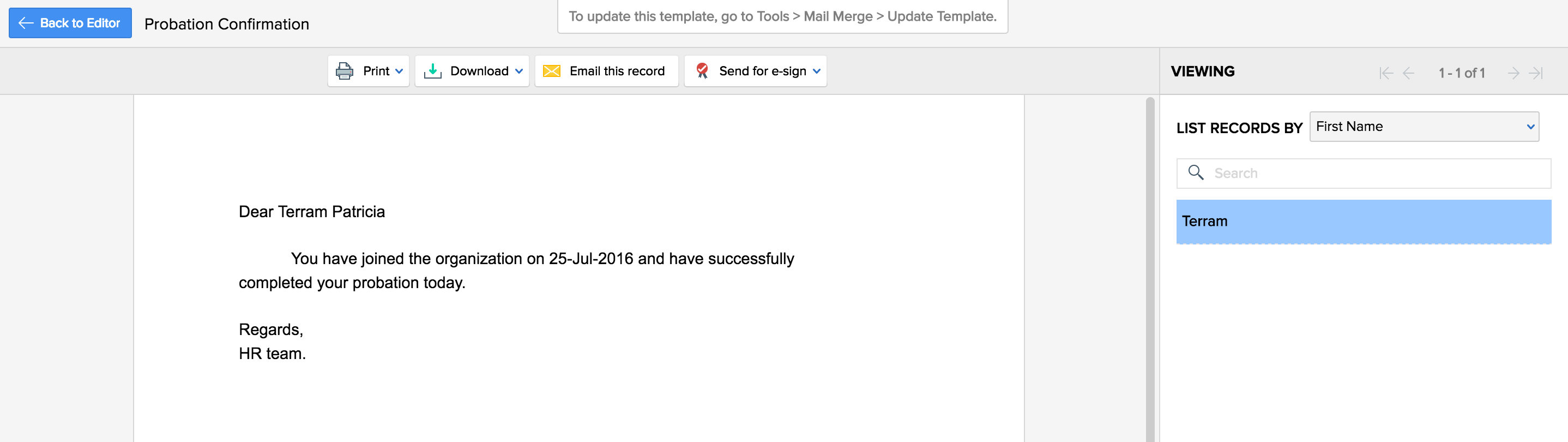 Automation Examples | Zoho People