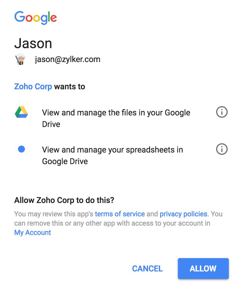 Create a Form by Importing a File from Google Drive | Zoho Creator Help