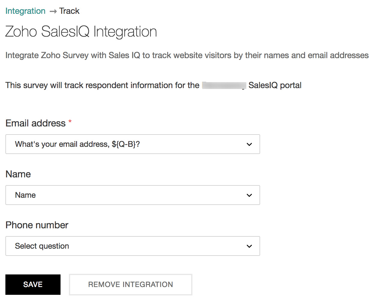 Remove Zoho SalesIQ integration