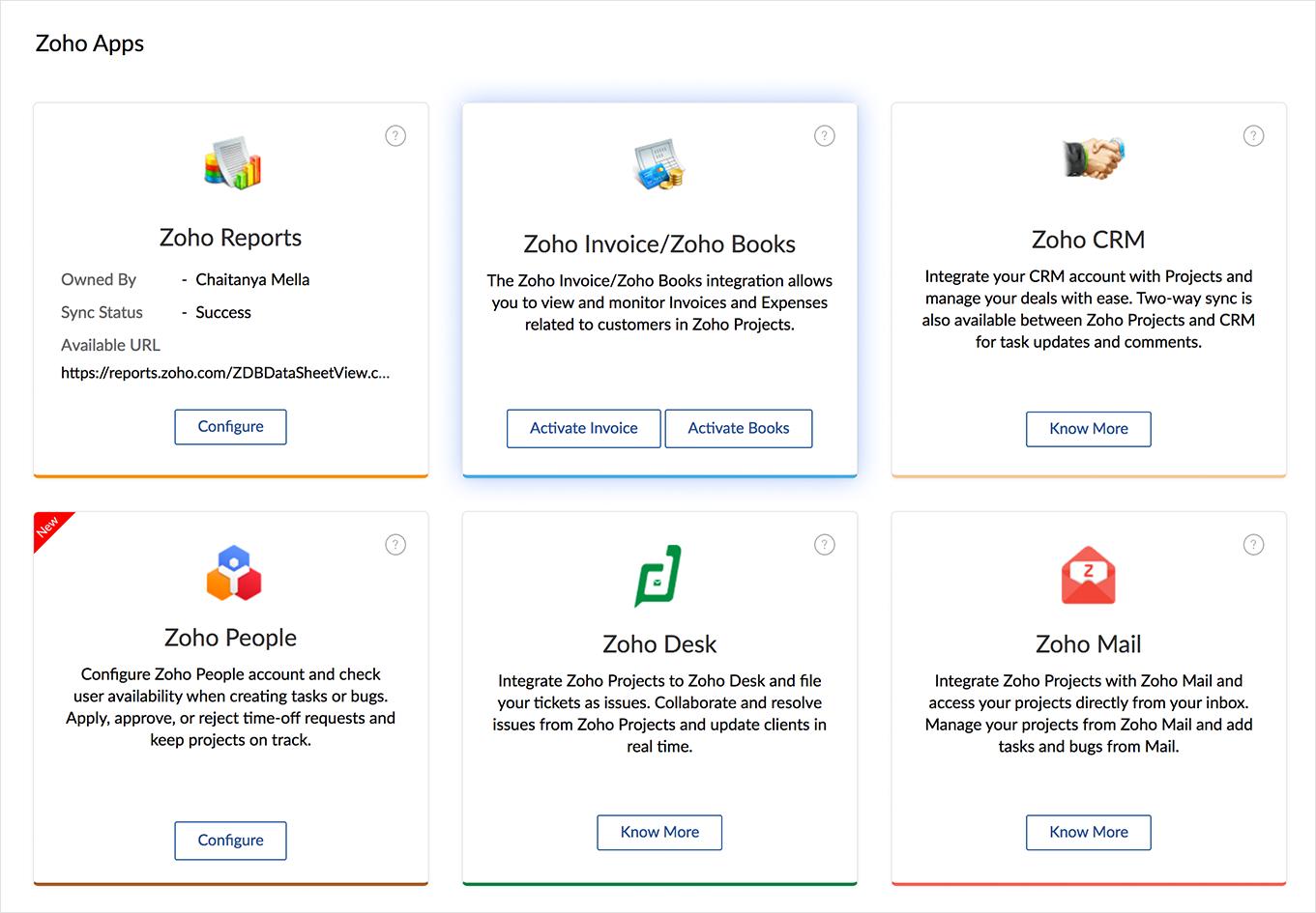 Integrate Zoho Books Or Invoice
