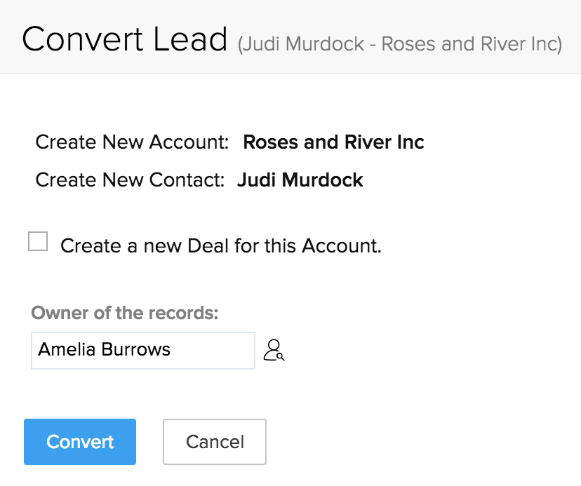 Lead conversion data of Lead manager tool