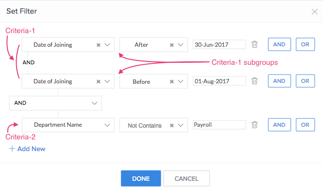 Manage Filter for a Lookup Field | Zoho Creator Help