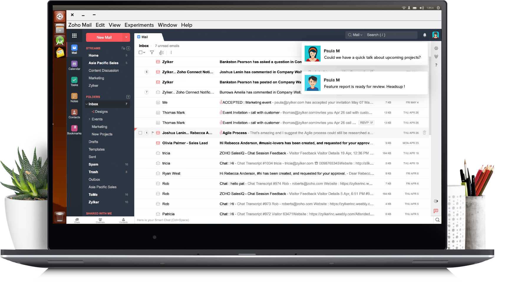Download Zoho Mail Desktop App For Windows Mac Linux Platforms